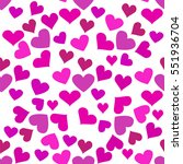 seamless pattern with hearts.... | Shutterstock .eps vector #551936704