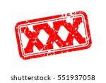 xxx rubber stamp vector... | Shutterstock .eps vector #551937058