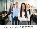 portrait of business woman in... | Shutterstock . vector #551937523