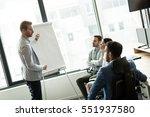 business people brainstorming... | Shutterstock . vector #551937580