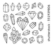 crystals  diamonds  gems and... | Shutterstock .eps vector #551939806