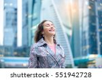 portrait of young happy girl at ... | Shutterstock . vector #551942728