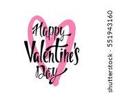 happy valentine's day.... | Shutterstock .eps vector #551943160