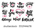 valentine s day lettering... | Shutterstock .eps vector #551944678