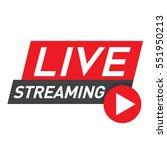 live streaming logo   red... | Shutterstock .eps vector #551950213