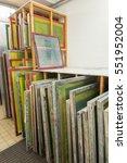 silk screen printing screens...   Shutterstock . vector #551952004