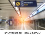 blurred image of subway metro... | Shutterstock . vector #551953930
