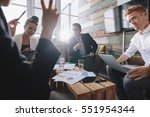 group of young business people...   Shutterstock . vector #551954344