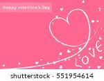 heart and love text  valentine... | Shutterstock .eps vector #551954614