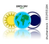happy earth day graphic design  ...   Shutterstock .eps vector #551955184