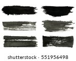 set of gray rough strokes. gray ... | Shutterstock .eps vector #551956498