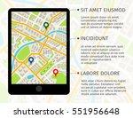 location illustration on... | Shutterstock .eps vector #551956648