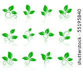 nature icons 2 | Shutterstock .eps vector #55195840