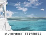 blue and deep water sea with... | Shutterstock . vector #551958583