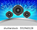 abstract musical with speakers... | Shutterstock .eps vector #551960128