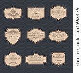 frame classic template. vintage ... | Shutterstock .eps vector #551963479