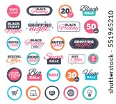 sale shopping stickers and... | Shutterstock .eps vector #551965210