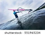 Surfer Standing In The Water ...