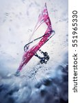 windsurfing in extreme... | Shutterstock . vector #551965330