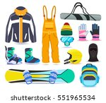 snowboard winter sports... | Shutterstock .eps vector #551965534
