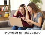 two astonished roommates... | Shutterstock . vector #551965690