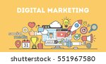 digital marketing concept... | Shutterstock .eps vector #551967580