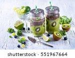 green fresh detox vegan... | Shutterstock . vector #551967664