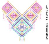 textile print necklace for... | Shutterstock .eps vector #551969194
