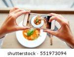 food  eating  technology ... | Shutterstock . vector #551973094