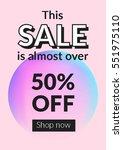social media sale banner and... | Shutterstock .eps vector #551975110