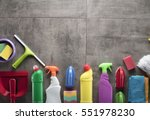 cleaning products. home... | Shutterstock . vector #551978230