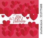 be my valentine letter  heart... | Shutterstock .eps vector #551979688