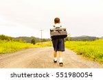 asian student walking  and... | Shutterstock . vector #551980054