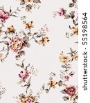 seamless floral background. for ... | Shutterstock . vector #55198564