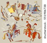 knight tournament medieval... | Shutterstock .eps vector #551986738