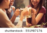 women are drinking beer and the ... | Shutterstock . vector #551987176