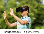 childhood  augmented reality ... | Shutterstock . vector #551987998