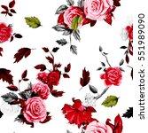 seamless background pattern of... | Shutterstock .eps vector #551989090