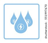 hydro energy drops  icon. blue... | Shutterstock .eps vector #551997670