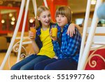 two teenagers or happy kids  ... | Shutterstock . vector #551997760