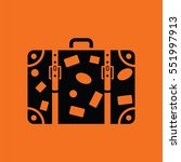 suitcase icon. orange...   Shutterstock .eps vector #551997913