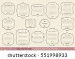 big vector set of vintage... | Shutterstock .eps vector #551998933