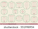 big vector set of vintage... | Shutterstock .eps vector #551998954