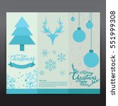 collection christmas card... | Shutterstock .eps vector #551999308
