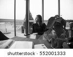 young beautiful brunette woman... | Shutterstock . vector #552001333