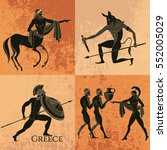 ancient greek mythology set.... | Shutterstock .eps vector #552005029