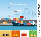 global delivery concept... | Shutterstock .eps vector #552007783