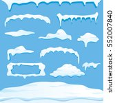 vector winter snow caps ... | Shutterstock .eps vector #552007840