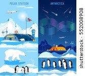 north pole  polar station... | Shutterstock .eps vector #552008908