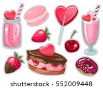 valentine's day romantic dating ... | Shutterstock .eps vector #552009448